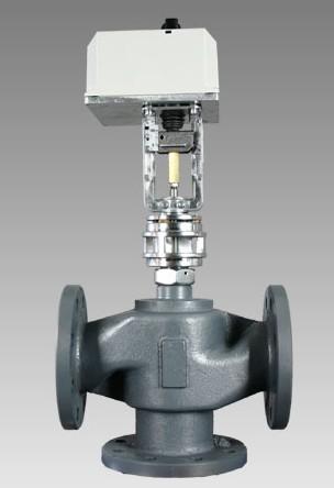 导热油电动三通调节阀工作原理图片